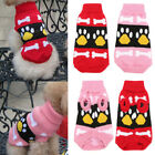 Xmas Pet Dog Cat Knitwear Jumper Sweater Small Puppy Warm Coat Costume Apparel