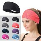 Women Elastic Sport Yoga Headband Cotton Knotted Turban Head Warp Wide Hair Band