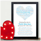 Baby Girls Name Personalised Picture Christening New Baby Word Art Print Gifts