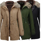US Ladies Fleece Winter Overcoat Long Jacket Coat Outwear Hoodie Parka S-2XL