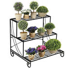 Vintage Metal Plant Stand Outdoor Planter Flower Pot Holder Wrought Iron Rack