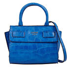 Cate Croco Embossed Small Tote Handbags With Crossbody Strap 3 Colors Bags NWT