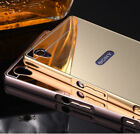 Luxury Aluminum Ultra-thin Mirror Metal Case + PC Back Cover For Sony Xperia