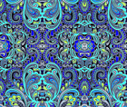 Paisley Blue Fashion Home Decor Fabric Printed by Spoonflower BTY