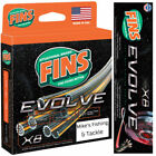 FINS EVOLVE X8 Braid 300yd Superline Fishing 8 Carrier Braided Line CHARTREUSE