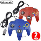 1x 2x Long Wired Controller Joystick For Nintendo 64 N64 Game System Mario Kart