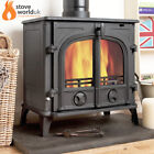Oakley Cast Iron Multi-Fuel Woodburning Double Door Stove Stoves Wood Burning
