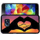 PERSONALIZED RUBBER CASE FOR SAMSUNG NOTE 8 5 4 3 LOVE HANDS HEART SUNSET