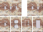 Camouflage 3 Army Desert Camo - Light Switch Covers Home Decor Outlet