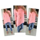 US Fashion Women Casual Scoop Neck Long Tunic Top Short Sleeve Loose Fit T-Shirt фото