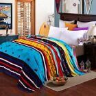 Flannel Blankets Single Double Bed Blanket Adults Bed Sheets Sofa Travel Camping