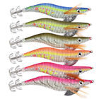 6pcs 2.5# 3.0# 3.5# Luminous Squid Jigs Hard Fishing Lures Squid Bait Jig Hooks