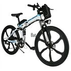 "26"" 36V Foldable Electric Mountain Bicycle w/Lithium-Ion Battery Aluminium USA"