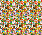 Clowns Circus Ballons Juggling Fabric Printed by Spoonflower BTY