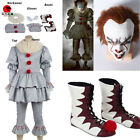 DFYM Stephen King's It Pennywise Cosplay Costume Halloween Suit with Mask Wig