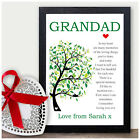 PERSONALISED Christmas Gifts for GRANDAD Keepsake Poem Xmas Presents Gramps Dad