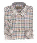 Tom Hagan Mens Checked Work Shirt Long Sleeves Casual Front Pockets