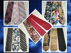 3Pc Lot Men's Assorted Multi Colored Ties 100%Silk & Polyester
