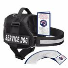 SERVICE DOG VEST HARNESS W/ 50 FOLDED ADA CARDS, Red, Pink, Black - XXS - XXL