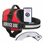 Pet Supplies - SERVICE DOG VEST HARNESS W/ 50 FOLDED ADA CARDS, Red, Pink, Black - XXS - XXL