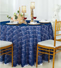 """Wedding Linens Inc. 108"""" Round Lace Table Overlays Toppers Lace Tablecloths"""