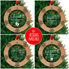 Baby First Christmas Tree Decoration PERSONALISED Bauble Ornament 1st Xmas Babie