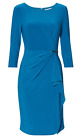 Gina Bacconi Dress With Sleeves 8087 Teal