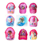 Cute Girls Baseball Trolls Moana Frozen Kids Swim Sun Cartoon Hat Beach Caps image