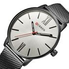 Curren Casual Watches Men's Sport Wrist Watch Quartz Stainless Steel Mesh Band
