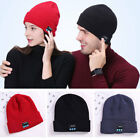 Bluetooth Headset Wireless Music Winter Warm Knitted Casual Hat Stereo Headphone