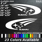Subaru rally car decals stickers imprezza sti wrx wrc forester jdm offroad