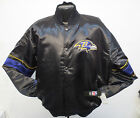 BALTIMORE RAVENS NFL  BLACK  SATIN JACKET NWT RAY LEWIS FLACCO RICE SUGGS JERSEY
