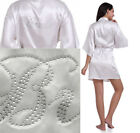 Bride Bridesmaid Robe Beaded Silk Satin Wedding Gown Kimono Sleepwear Bathrobe