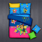 ** Paw Patrol Rubble&Chase Single Bed Quilt Cover Set - Flat or Fitted Sheet **