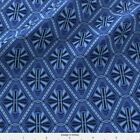 Geometric Art Deco Diamonds (Blue) Fabric Printed by Spoonflower BTY