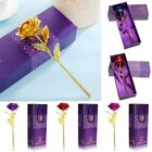 24K Gold Plated Rose Flower Valentine's Day Birthday Romantic Gift With Box wow