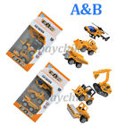 6PCS Set Engineering Vehicle Model Mini Car Truck Digger Bulldozer Helicopter