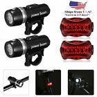 Lot 20 5 LED Bike Lamp Bicycle Front Head Light + Rear Safety Flashlight HM