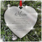 Remembrance Christmas Tree Decoration Mirror Acrylic Bauble Heart Memorial Love