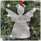 PERSONALISED Remembrance Baubles Memorial In Memory Christmas Xmas Angels Love