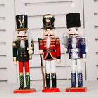 15'' Vintage Wooden Nutcracker Soldier Christmas Decor Ornaments Toy Craft Gift
