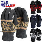 Внешний вид - Winter Warm Gloves Knit Blend Soft Stretch Ski Mitten One Size Knitted Men Women