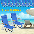 LOT 10 PACK Backpack Beach Chair Folding Portable Solid Construction Camping HM