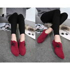 Women Retro Suede Lace Up Comfy Loafers Anti-slip Brogues Flat Heel Casual diy