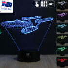 Star Trek USS Enterprise 3D Acrylic LED Night Light 7 Color Table Lamp Xmas Gift