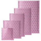 Multi-sizes Pink Heat-Sealable Aluminum Mylar Open Top Bags w/ Prism Pattern M40