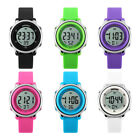 Kids Boy Girl LED Alarm Digital Watch Stopwatch Children's Wristwatch Flowery
