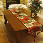Christmas Retro Rural Flower Floral Dining Table Runner Tablecloth Placemat 1pc