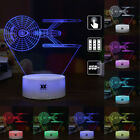 Star Trek USS Enterprise 3D Acrylic LED Night Light Table Desk Lamp Remote Gifts on eBay