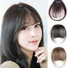 Thin Neat Air Bangs Real Hair Extension Clip In Korean Fringe Front Hairpiece g1